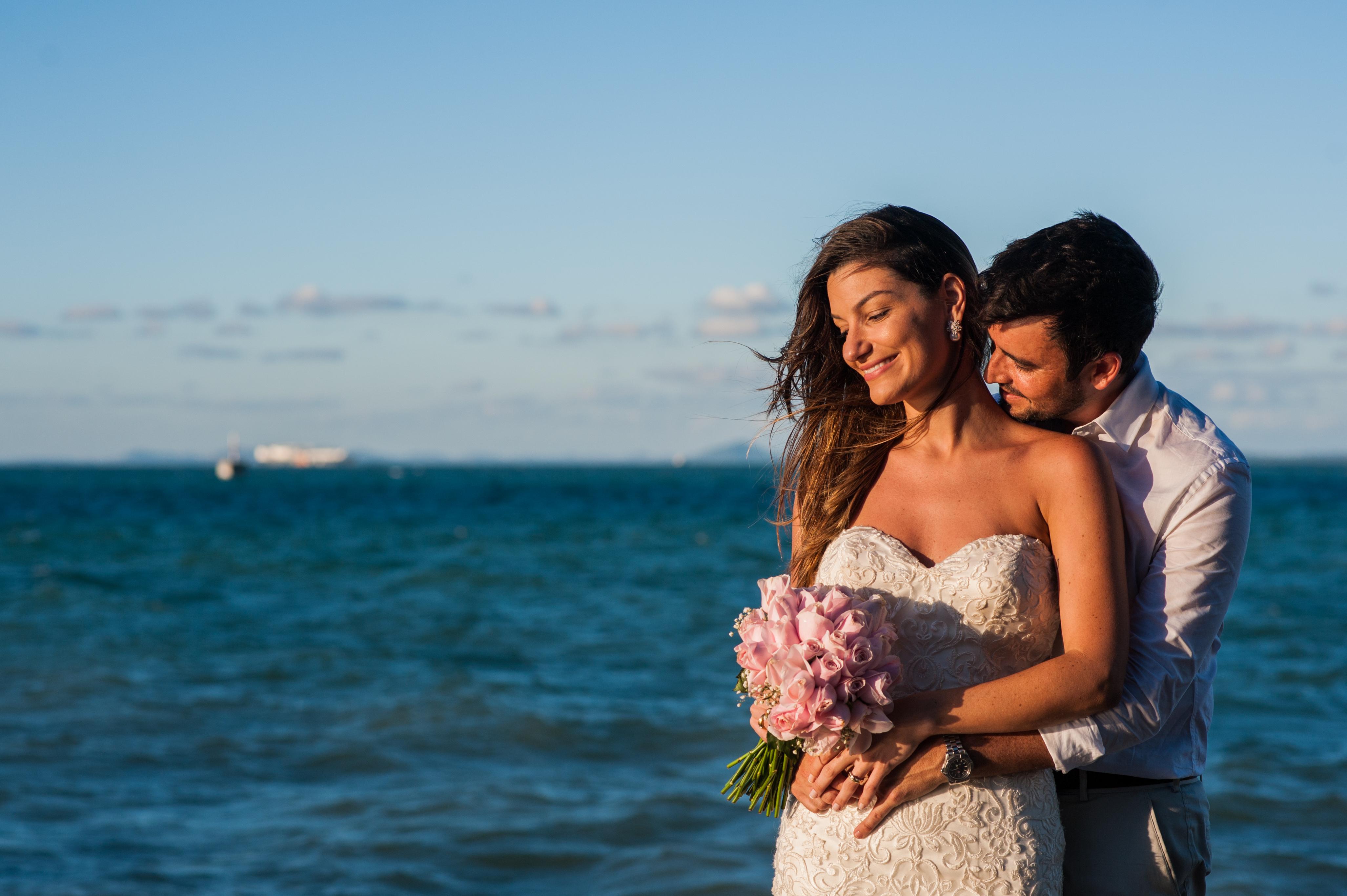Tici y Marce  en la Isla de Itaparica